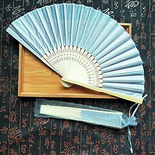 88AMZ Chinesischer Style fächer,Vintage asiatischer fächer,faltender Bambusseidenfächer,Chinesische traditionelle Kultur,für Parteihochzeitsdekoration,Deko Geschenk Muttertag Gartenfeste (L)
