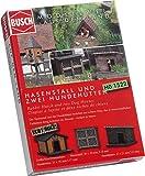 Busch 1522 - Hasenstall und zwei Hundehütten