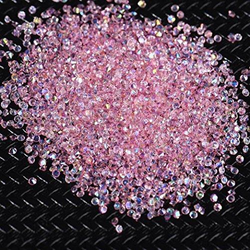 TAOtTAO 3000 Stücke 2 MM DIY Diamant Tisch Konfetti Klarem Kristall Veranstaltungen Party Zubehör (Rosa) -