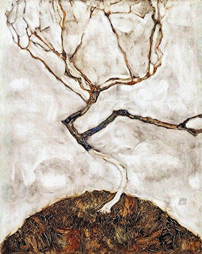 Das Museum Outlet–Egon Schiele–Kleine Baum im späten Herbst, gespannte Leinwand Galerie verpackt. 40,6x 50,8cm