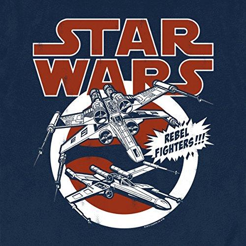 Star Wars - X-Wings T-Shirt Damen/Herren Unisex sehr hochwertig großer Frontdruck navy XS-XXL Blau