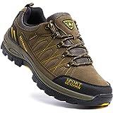 Scarpe Trekking Uomo Traspiranti Scarpe da Escursionismo Basse Leggere Sneakers Lacci All'Aperto Montagna Invernali Nero Blu