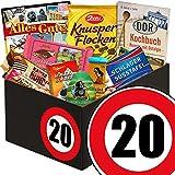 Geschenk zum 20. Geburtstag | Schokoladen Geschenke | mit Zetti Schlager Süßtafel, Viba Schicht Nougat Stange und mehr | Schokoladen Box