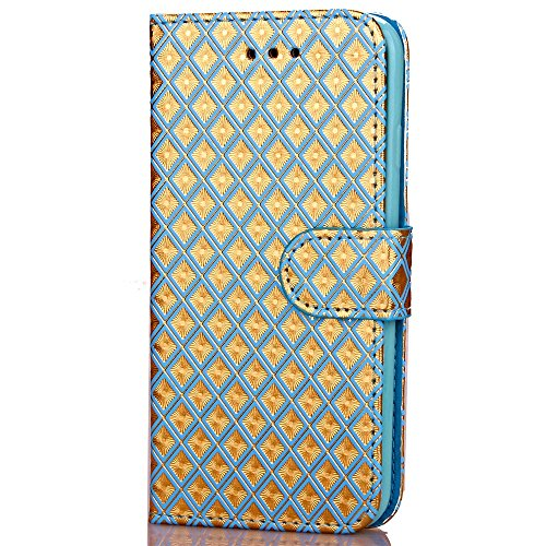 Wkae Case Cover iPhone Case 7, Diamant Lattice cas de motif, étui en cuir PU Housse TPU souple avec dragonne Support Wallet Case pour Apple iPhone7 by DIEBELLEU ( Color : 6 , Size : Iphone 7 ) 2
