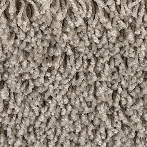 Teppichboden Auslegware Meterware Hochflor Shaggy Langflor Velour grau beige 400 und 500 cm breit, verschiedene Längen