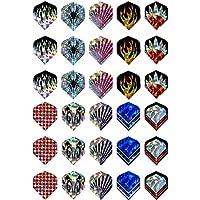 JWBOSS 2D Cool Bling 1 Sets 3 pcs de Dart Vuelos Niza Dardos Reflectantes de Láser Vuelo de ala de Cola Gradas arrojando
