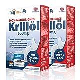 NATÜRLICHES Krill Öl 500mg Premium mit Omega 3| Omega 6| Omega 9 | 120 Kapseln (Krillöl) mit 14 mg Astaxanthin pro 100g / hochdosiert von ForteVital®