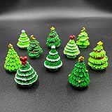 EMiEN 26 Pieces Christmas Style Miniature Ornament Kits Set for DIY Fairy Garden Dollhouse Decoration, White Sand, Santa, Christmas Trees, Snowman, Snowflake, Red Socks, Bell, Bag, Moon, Bench