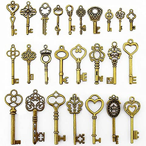LolliBeads (TM) 2 Sets of Assorted Pewter Antiqued Brass Bronze