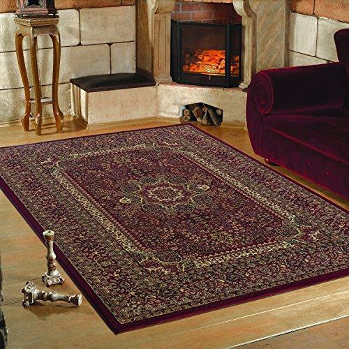 Klassich Orient Teppiche MALAZGIRT Medallion Bidjar_historische motive mit hochwertigen PP Heatset Teppiche_0207 ROT
