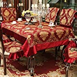 DSAAA Sencillez moderna bordado rojo paño rectangular y cubierta,110*110cm