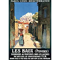 """P.L.M. - Les Baux (Provence)"" A4 Glossy Vintage Railway Poster Art Print"