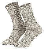 Piarini Baumwollsocken/Jeanssocken für Herren und Damen aus atmungsaktive Baumwolle | 5er Pack | Natur Gr. 43-46