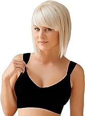 Rosme Klassischer Still-BH ohne Bügel aus 100% Baumwolle in Schwarz und Weiß, Gr. 75-100 F-H