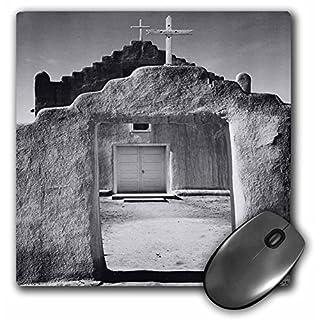 3dRose mp_50873_1 8 x 8 Ansel Adams SW Church Photography Mouse Pad