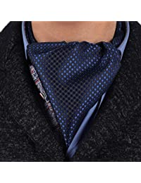 ERA7D01 Multicolored Polka Dots Silk Mens Ascot Tie Cravat For Party By Epoint
