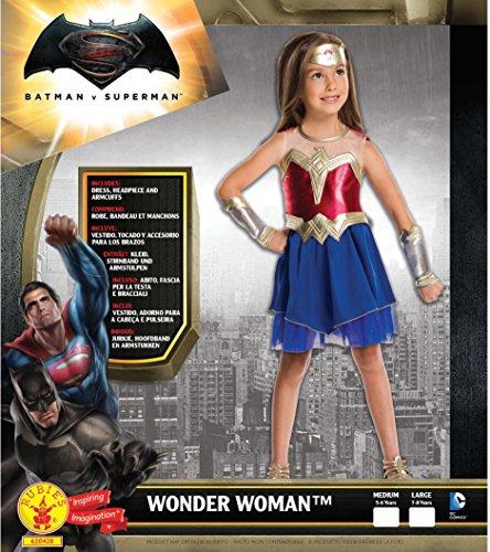 Imagen de rubíes  mujer maravilla  albores de justicia  disfraz para niños  gran  128 centímetros  edad 7 8 años alternativa