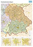 Postleitzahlenkarte Bayern XL mit Laminierung (beschreib- und abwischbar): Maßstab: 1 : 400.000, DIN B0 Poster mit Laminierung und PLZ-Register, Auflage 2015