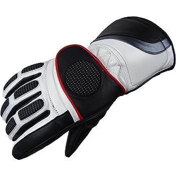 2b9c0783a8a8a7 Bangla Motorradhandschuhe Winter Handschuh 6001 Leder schwarz weiss XXL