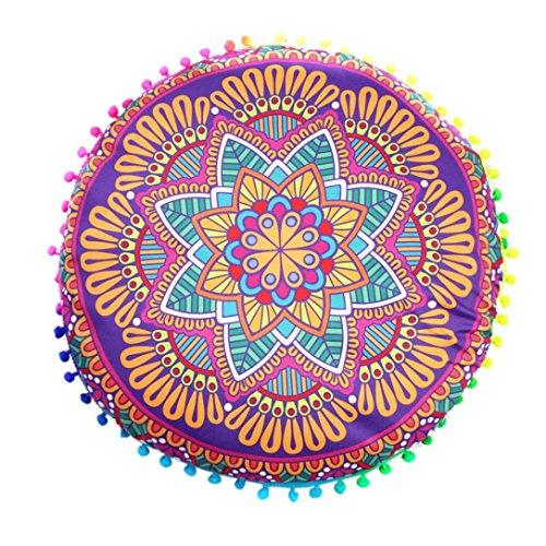 Kissenbezug Böhmische Xinan Indian Mandala Round Böhmische Kissen Cover Case (43*43cm/(17.0*17.0