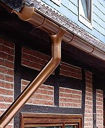 Dachrinne Rinnensatz Regenrinne KUPFERFARBEN 1x600cm KOMPLETT Carport Gartenhaus