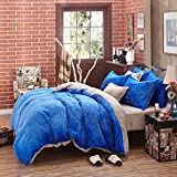 LY&HYL All-Season France velvet thickening Bedding 4pcs quilt Cover Bed Sheet and Pillowcase , 3 , queen