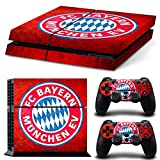 GameCheers PS4 Konsole and DualShock 4 Controller Skin Set - Soccer Football - PlayStation 4 Vinyl Futbol Manu