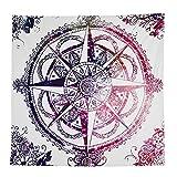 Ularma Wunderschön Kompass Wandteppiche Schön Polyester Wandbehang 145*145cm Gobelin