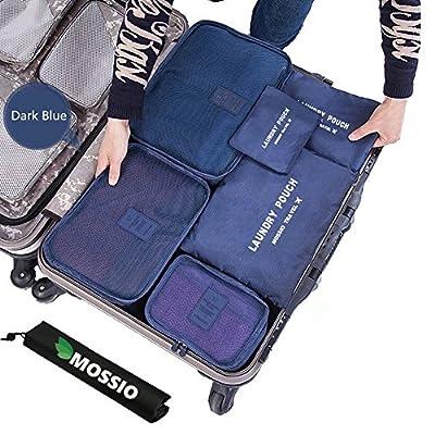 Mossio 7 Set Kleidertaschen mit Schuhbeutel - Reisegepäck Kofferorganizer Packtaschen Veranstalter Beutel