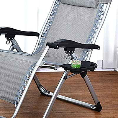 Chair Side Tray Zero Gravity Chair Tray with Mobile Device Slot and Snack Tray for Pool Beach Camping Garden Fishing Outdoor Activity from elfisheu