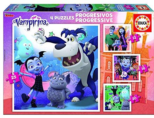 Educa Borrás- 4, Vampirina Puzzle Progresivo 12-16-20-25...