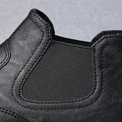 YIXINY Chaussures de sport Mode Loisirs Chaussures Pour Hommes PU Jeunesse Chaussures Lazy Chaussures De Plaque Chaussures De Conduite Quatre Couleurs ( Couleur : Black 1 , taille : EU39/UK6.5/CN40 ) Noir