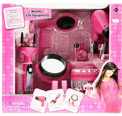 Glamour Girl Deluxe Beauty Set mit Haarfön Lockenstab Spiegel Tasche uvm