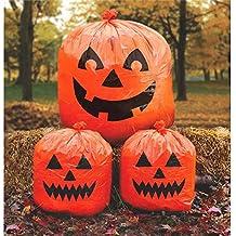 Decorazioni Halloween: 3 sacchi plastica zucca