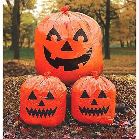 3 Sacs Citrouille de décoration à remplir Halloween
