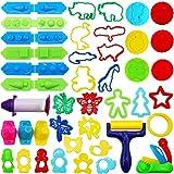 Outuxed Knetwerkzeug Plastilin Knete Zubehör Set für Kinder 45 Stück