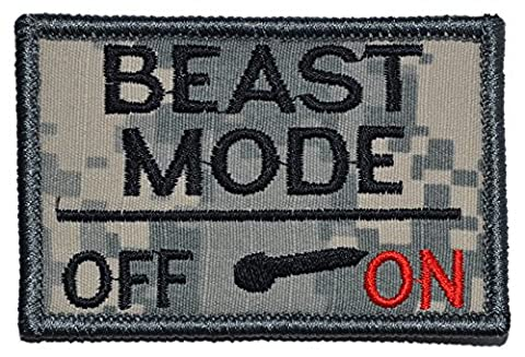 Beast Mode Activated 2x3 Military Patch / Morale Patch - Multiple Colors (ACU)