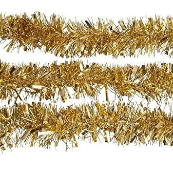2m (6.5 Ft) Christmas Tinsel Tree Decorations Tinsel Garland (gold ...