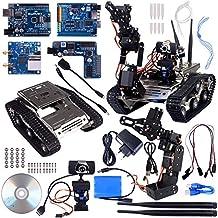 Kuman Brazo Manipulador Inalámbrico Wifi Robot Car Kit para Arduino, utilidad Vehículo Robótica Inteligente, HD Cámara Ds Robot Smart Educativo Kits de iOS android PC Controlado con Vídeo Tutorial SM5-1