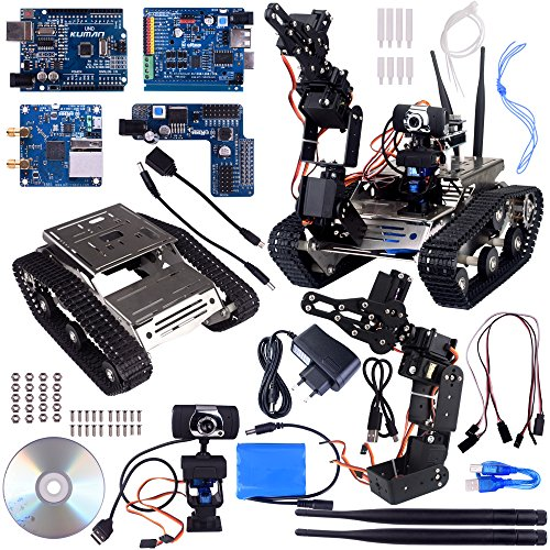 Remote-start-audi (Kuman Wireless Wifi manipulator Robot Car Kit for Arduino,utility Vehicle Intelligent Robotics, Hd Camera Ds Robot Smart Educational Kits by iOS android PC controlled With Video tutorial Sm5-1)