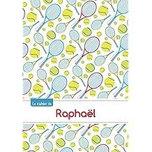 CAHIER RAPHAEL BLANC,96P,A5 TENNIS