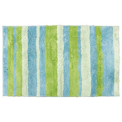 Teppich grün blau  InterDesign 18971EU Mikrofaser Stripz Teppich, 50 x 80 cm, blau ...