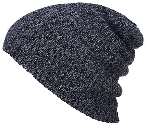 Unisex Herbst-Winter-Hut-warmer Hut Modisch gestrickter Hut,Schwarz