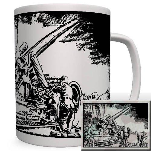 Dora Geräte (Dora Gerät Geschütz Bahn Schienen Militär Wk Einsatz Wh Heer 80-Cm-Kanone - Tasse Kaffee Becher #16731)