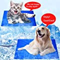 Large Dog Pet Cooling Mat Cooler Cushion Blue Gel Mat Bed Pad Comfort Dog Pet cooler mats for Summer