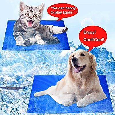 Large Dog Pet Cooling Mat Cooler Cushion Blue Gel Mat Bed Pad Comfort Dog Pet cooler mats for Summer