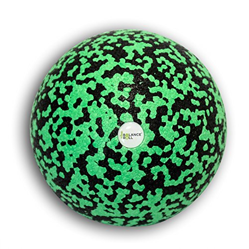Balance Roll Faszienball zur Trigger Point Massage (12cm) - Faszien Ball groß für Fitness Training und Sport - Black Foam Kugel (12 cm)