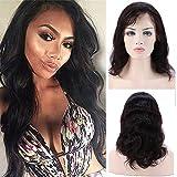 """Perruque Bresilienne 360 Femme Vrai Cheveux 100% Cheveux Humains Naturels Bresiliens Remy Ondulé - 360 Lace (Densité: 130%, Longueur: 12""""/30cm)"""