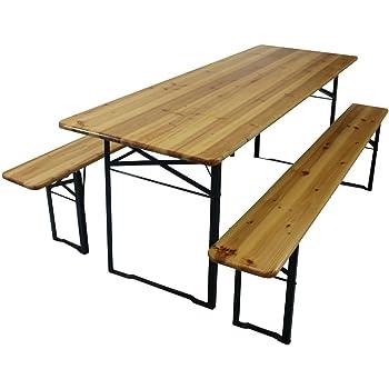 Tavolo tavola con panche tavolo birreria fiera con gambe for Staffe pieghevoli
