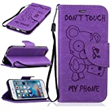 IPHONE 6 /IPHONE 6s Cas de téléphone Folio Tongues Souple PU Housse en Cuir